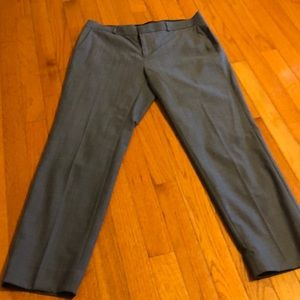 Women's BananaRepublic blue crop wool pants sz 6.